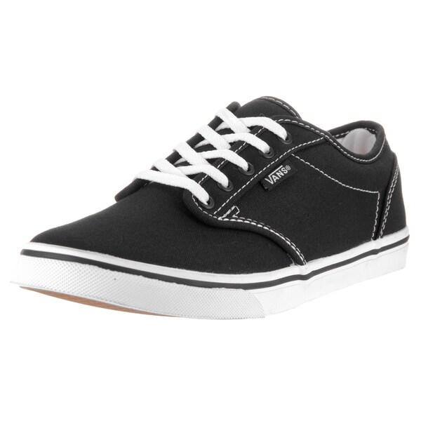 Shop Vans Women's Atwood Black/White Canvas Low Skate Shoe ...
