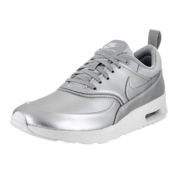 new arrival ff743 ddb1d Nike Women  x27 s Silver Faux Leather Air Max Thea SE Running Shoe