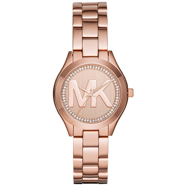 Michael Kors Womens MK3549 Mini Slim Runway Rose Gold Dial Rose