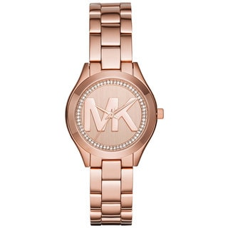 Michael Kors Women's MK3549 Mini Slim Runway Rose Gold Dial Rose Gold-Tone Stainless Steel Bracelet Watch