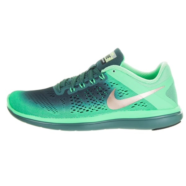 patrulla Edición recibo  Nike Women's Flex 2016 Run Shield Green Fabric Running Shoes - Overstock -  13476262