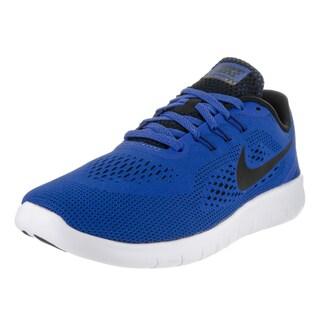 Nike Boys' Free Run GS Blue Running Shoes
