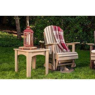 Poly Outdoor 2 Foot Adirondack Swivel Porch Glider Chair