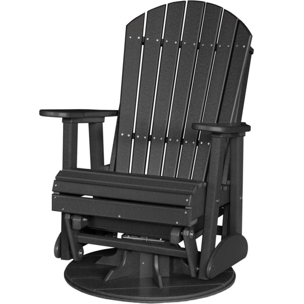 Shop Poly Outdoor 2 Foot Adirondack Swivel Porch Glider