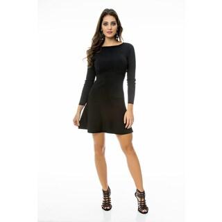Sara Boo Solid Tricot Dress