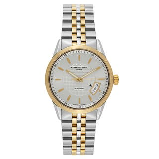 Raymond Weil Freelancer Stainless Steel and Yellow Gold PVD Coated Men's Mechanical Watch|https://ak1.ostkcdn.com/images/products/13476285/P20162689.jpg?impolicy=medium