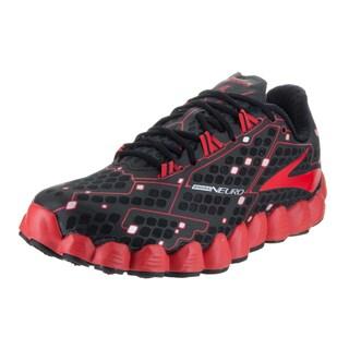 Brooks Men's 'Neuro' Black Synthetic Leather Running Shoe