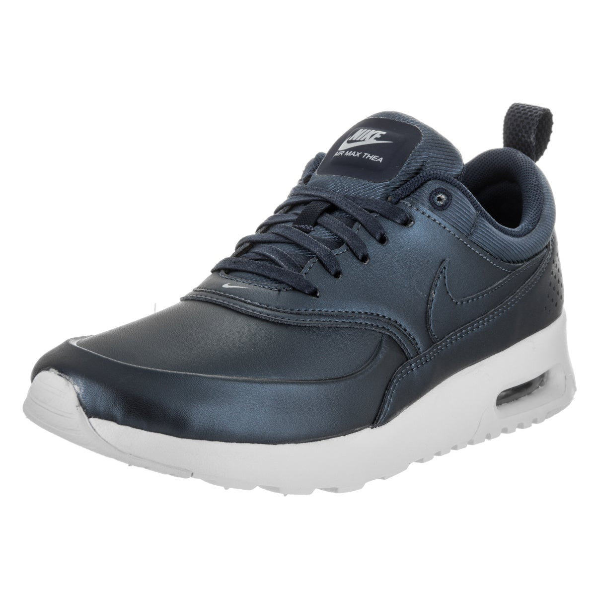 Nike Women's Air Max Thea SE Blue Synthetic Leather Runni...