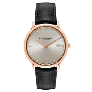 Raymond Weil Women's Tocccata Stainless Steel Rose Gold PVD Coated Men's Leather Strap Watches