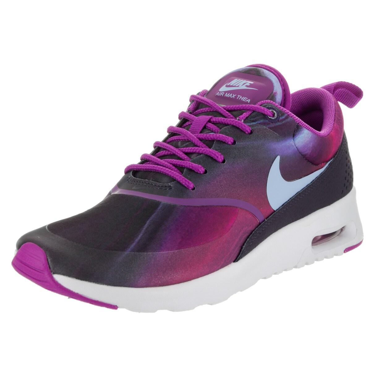 Nike Air Max Thea Print Womens Running Shoes Purple Pink