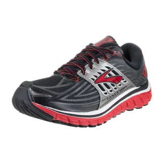 Brooks Men's Glycerin 14 Wide Black and REd Synthetic Leather Running Shoes