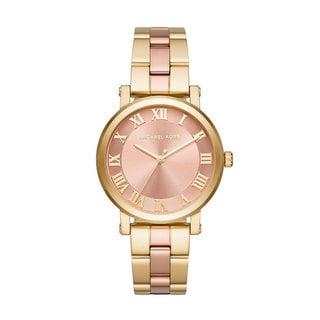 Michael Kors Women's MK3586 Norie Rose Gold Dial Two-Tone Stainless Steel Bracelet Watch