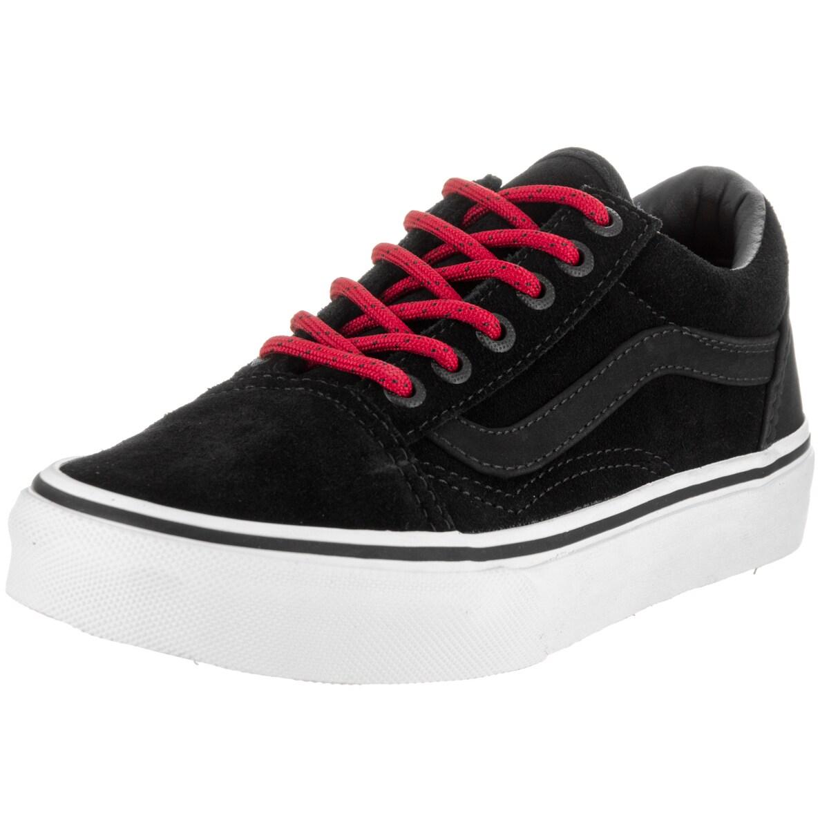 Vans Kid's Old Skool Black Suede Skate Shoes (Black - 12....