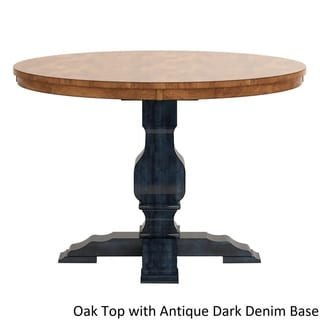 Eleanor Two Tone Round Solid Wood Top Dining Table By INSPIRE Q Classic