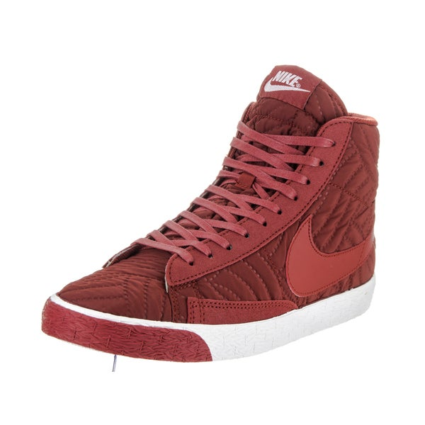 buy popular 1d044 feac4 Nike Womenx27s Blazer Mid Prm Vintage Red Synthetic Leather Casual Shoes