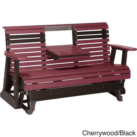 Outdoor 5' Rollback Glider Bench - Recycled Plastic