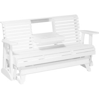 Poly Outdoor 5 Foot Rollback Glider Bench