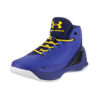 Under Armour Kids' GS Curry 3 Blue Textile Basketball Shoes