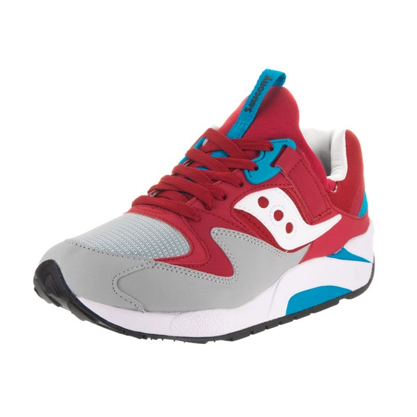 7676bc7e Shop Saucony Men's Grid 9000 Red and Grey Running Shoes - Free ...