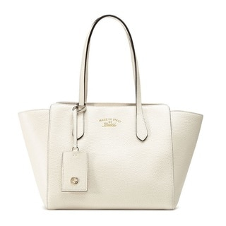Gucci Swing Leather Medium Off-white Tote Handbag