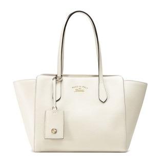 Gucci Swing Leather Medium Off-white Tote Handbag