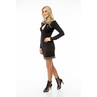 Sara Boo Keyhole Dress with Embelishement Details