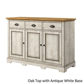 Eleanor Two-Tone Wood Cabinet Buffet Server by TRIBECCA HOME