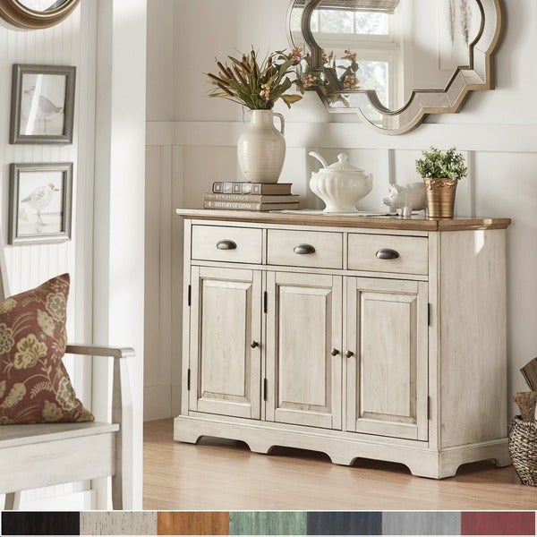 25 Dining Room Cabinet Designs Decorating Ideas: Shop Eleanor Two-Tone Wood Cabinet Buffet Server By