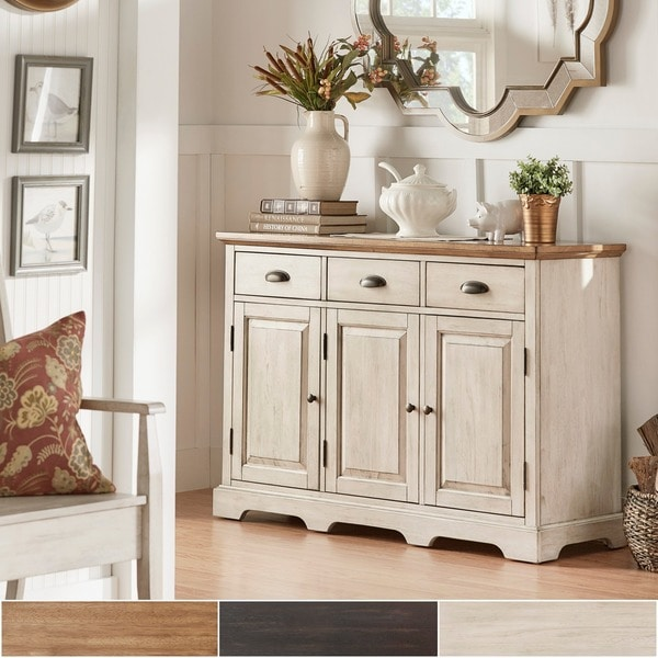 Eleanor Two-Tone Wood Cabinet Buffet Server by iNSPIRE Q Classic
