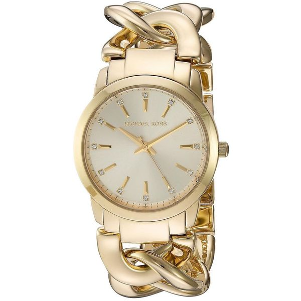 9ebcf0048add3 Shop Michael Kors Women's MK3608 Elena Gold Dial Gold-Tone Stainless ...