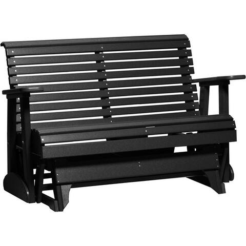 Poly Outdoor 4 Foot Rollback Glider Bench