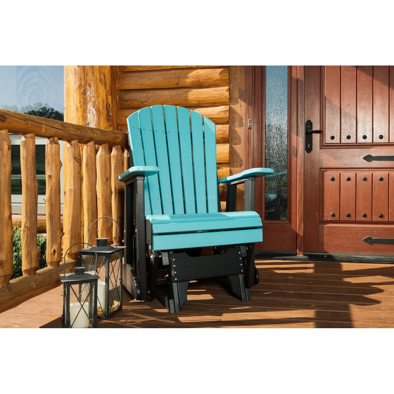Outdoor Adirondack Glider Chair Recycled Plastic