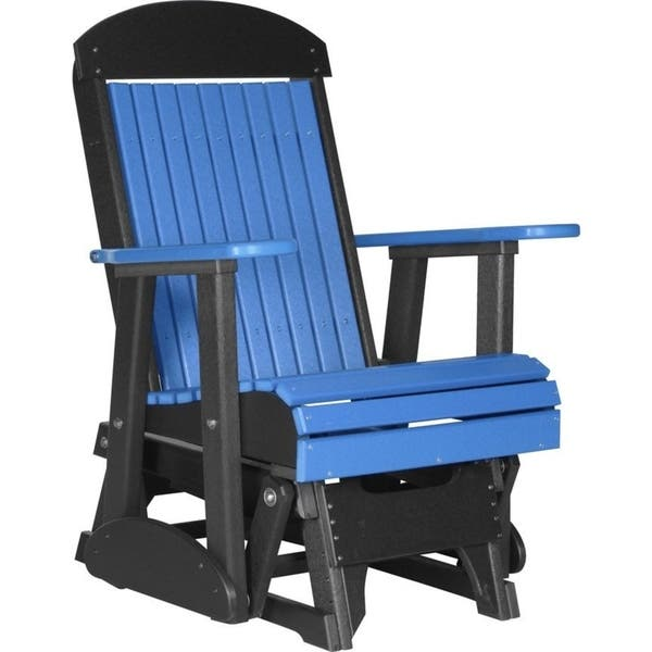 Terrific Shop Outdoor Highback Glider Chair Recycled Plastic Free Pdpeps Interior Chair Design Pdpepsorg