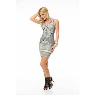 Sara Boo Grey Strappy Bandage Dress