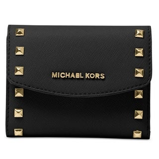 Michael Kors Ava Black Carryall Card Case Wallet