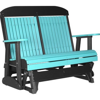 Poly Outdoor 4 Foot Highback Porch Glider Bench
