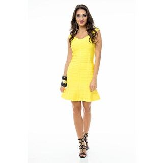 Sara Boo Flutter Hem Bandage Dress