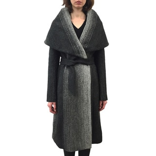 ZAC Zac Posen 'Alisha' Shawl-collar Crisscross Belt Wrap Coat