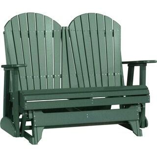 Poly Outdoor 4 Foot Adirondack Porch Glider Bench