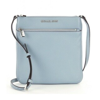 Michael Kors Riley Small Dusty Blue Flat Crossbody Handbag