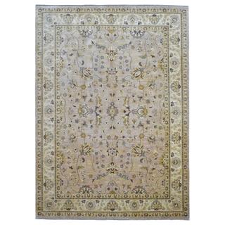 FineRugCollection Handmade Peshawar Beige Wool Oriental Rug (9' x 12'6)