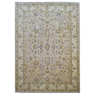 FineRugCollection Handmade Peshawar Beige Wool Oriental Rug (9' x 12'6)