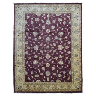 Fine Rug Collection Hand-knotted Peshawar Burgundy Wool Rug (9' x 11'4)