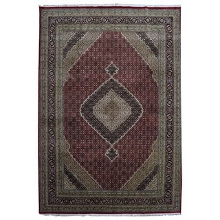 FineRugCollection Hand-knotted Mahi Tabriz Wool Rug (9'10 x 13'10)