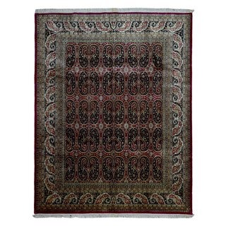 FineRugCollection Hand-knotted Tabriz Red Wool Rug (8' x 10')