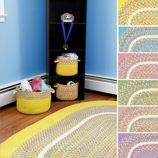 Kids Place Indoor / Outdoor Reversible Accent Rug by Rhody Rug (2' x 4') (Option: Yellow)