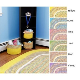 Kids Place Indoor / Outdoor Reversible Braided Rug by Rhody Rug (4' x 6')