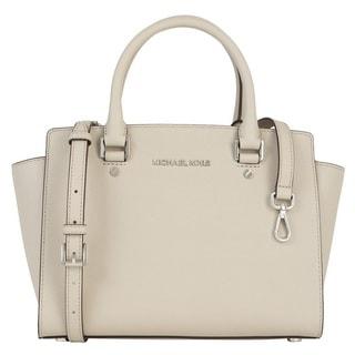 Michael Kors Selma Medium Cement Satchel Handbag