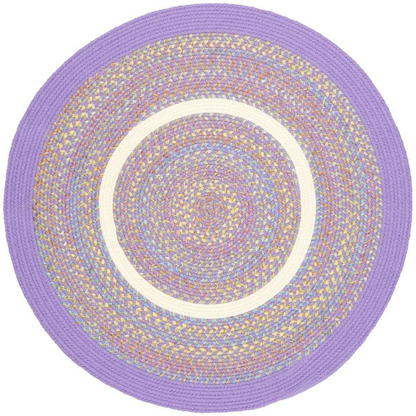 Kids Place Indoor Outdoor Reversible Round Braided Rug