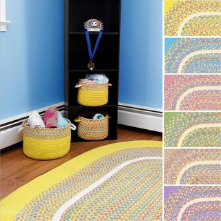 Kids Place Indoor / Outdoor Reversible Braided Rug by Rhody Rug, 3 ft x 5 ft - 3' x 5'
